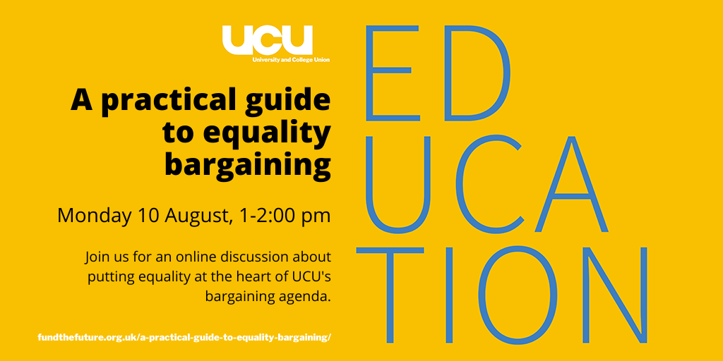 A practical guide to equality bargaining: 10 August 2020 1:00 pm - 2:00 pm