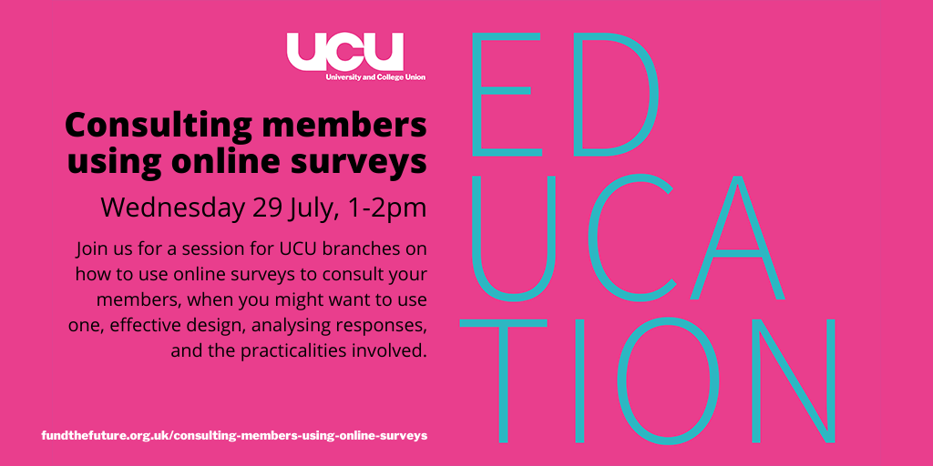 Consulting members using online surveys - 29 July, 1:00 pm - 2:00 pm