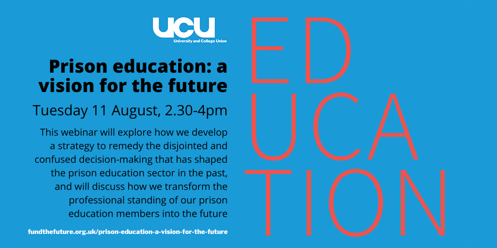 Prison education: a vision for the future - 11 August 2.30-4.00